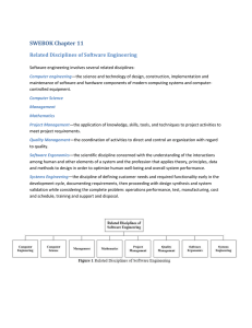 SWEBOK Chapter 11 Related Disciplines of Software Engineering