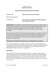 Parent/Guardian Permission Form for Research