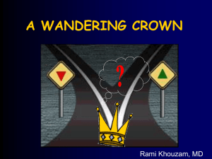 A WANDERING CROWN Rami Khouzam, MD