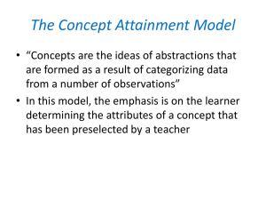 The Concept Attainment Model