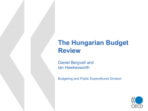 The Hungarian Budget Review Daniel Bergvall and Ian Hawkesworth