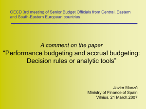 OECD 3rd meeting of Senior Budget Officials from Central, Eastern