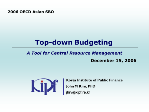 Top-down Budgeting A Tool for Central Resource Management December 15, 2006