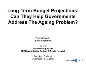 Long-Term Budget Projections: Can They Help Governments Address The Ageing Problem? Presentation by