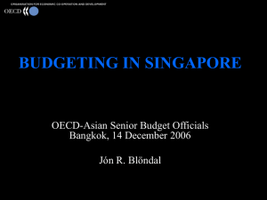 BUDGETING IN SINGAPORE OECD-Asian Senior Budget Officials Bangkok, 14 December 2006