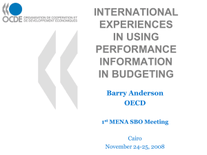 INTERNATIONAL EXPERIENCES IN USING PERFORMANCE