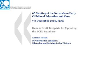 6 Meeting of the Network on Early Childhood Education and Care