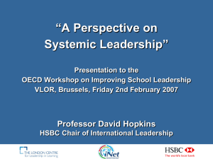 """A Perspective on Systemic Leadership"""