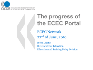 The progress of the ECEC Portal ECEC Network 22