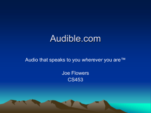 Audible.com ™ wherever Joe Flowers