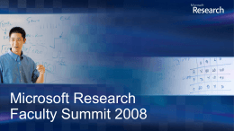 Microsoft Research Faculty Summit 2008