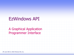 EzWindows API A Graphical Application Programmer Interface