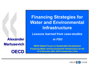 Financing Strategies for Water and Environmental Infrastructure OECD