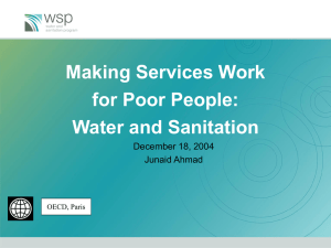 Making Services Work for Poor People: Water and Sanitation December 18, 2004