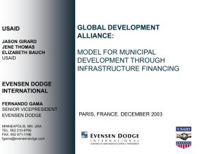 GLOBAL DEVELOPMENT ALLIANCE: MODEL FOR MUNICIPAL DEVELOPMENT THROUGH