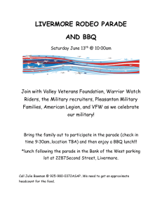 LIVERMORE RODEO PARADE AND BBQ