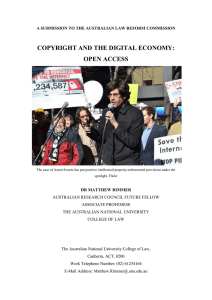 COPYRIGHT AND THE DIGITAL ECONOMY: OPEN ACCESS