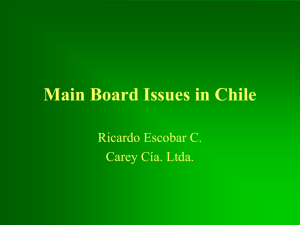 Main Board Issues in Chile Ricardo Escobar C. Carey Cía. Ltda.
