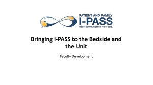 Bringing I-PASS to the Bedside and the Unit Faculty Development