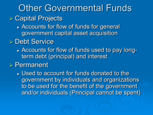 Other Governmental Funds Capital Projects Debt Service