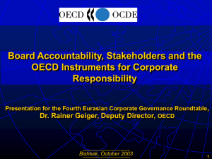 Board Accountability, Stakeholders and the OECD Instruments for Corporate Responsibility ,
