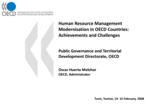 Human Resource Management Modernisation in OECD Countries: Achievements and Challenges