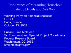 Importance of Measuring Household Liability Details and Net Worth
