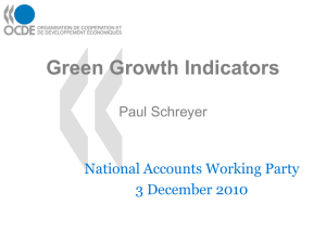 Green Growth Indicators National Accounts Working Party 3 December 2010 Paul Schreyer