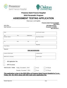 ASSESSMENT TESTING APPLICATION  Presence Saint Francis Hospital