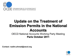 Update on the Treatment of Emission Permits in the National Accounts