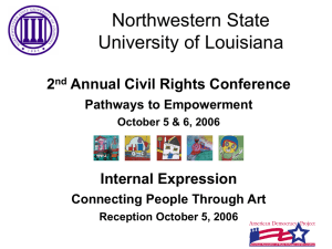 Northwestern State University of Louisiana 2 Annual Civil Rights Conference
