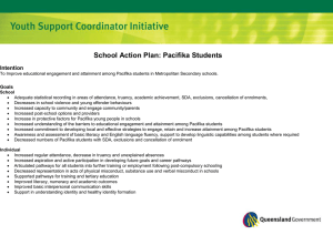 School Action Plan: Pacifika Students Intention