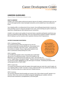 LINKEDIN GUIDELINES  How to Create a Professional LinkedIn Profile