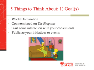5 Things to Think About: 1) Goal(s)
