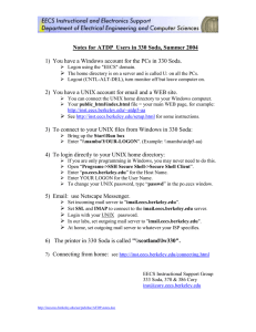 Notes for ATDP  Users in 330 Soda, Summer 2004 