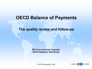 OECD Balance of Payments The quality review and follow-up OECD Statistics Directorate