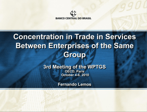 Concentration in Trade in Services Between Enterprises of the Same Group