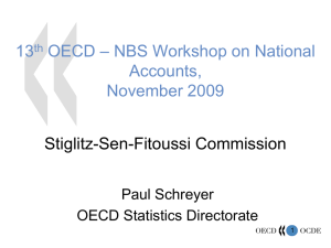 – NBS Workshop on National 13 OECD Accounts,