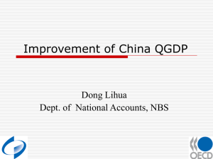 Improvement of China QGDP Dong Lihua Dept. of  National Accounts, NBS