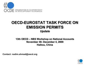 OECD-EUROSTAT TASK FORCE ON EMISSION PERMITS Update – NBS Workshop on National Accounts