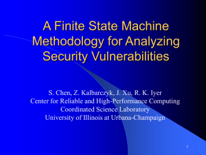 A Finite State Machine Methodology for Analyzing Security Vulnerabilities