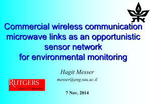 Commercial wireless communication microwave links as an opportunistic sensor network for environmental monitoring