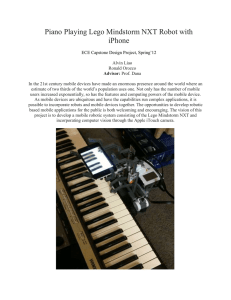 Piano Playing Lego Mindstorm NXT Robot with iPhone