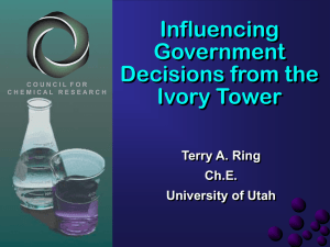 Influencing Government Decisions from the Ivory Tower