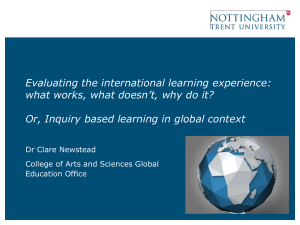 Evaluating the international learning experience: