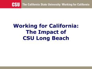 Working for California: The Impact of CSU Long Beach
