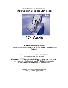 271 Soda  Instructional computing lab SunRay 1