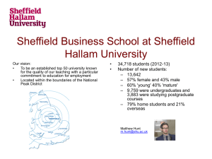 Sheffield Business School at Sheffield Hallam University • 34,718 students (2012-13)