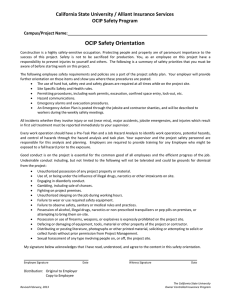 OCIP Safety Orientation California State University / Alliant Insurance Services