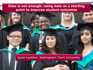 Data is not enough: using data as a starting Sarah